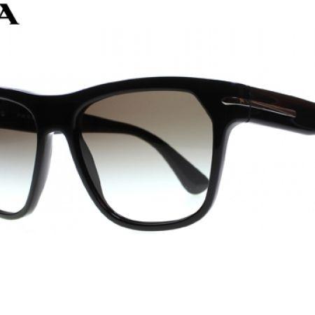 50% Off Prada Square Sunglasses PR 03RS 1ABO/A7 Black Frame With ...