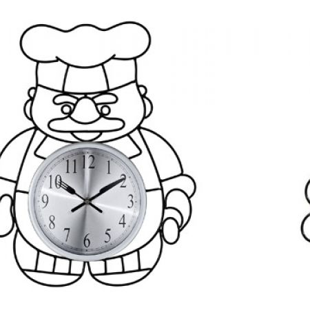 30% Off Metal Novelty Baker Chef Kitchen Wall Clock (Only $42 instead of $60)