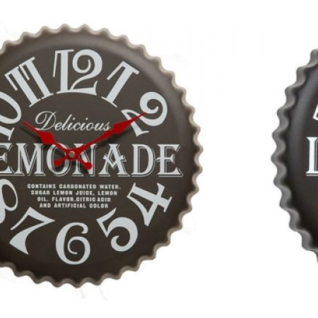 26% Off Retro Metal Lemon Bottle Cap Kitchen Wall Clock (Only $37 instead of $50)