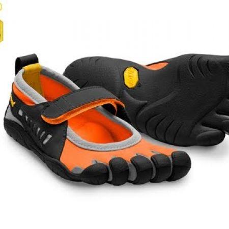 promo code 3f59d 8b26f 56% Off Vibram Five Fingers Black   Orange Sprint Shoes For Kids (Only  44  instead of  100)