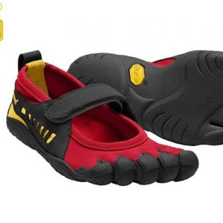 56% Off Vibram Five Fingers Red & Black Sprint Shoes For Kids - Size: 29 (Only $44 instead of $100)