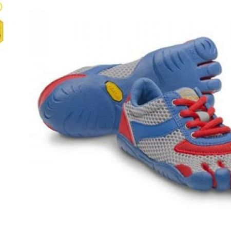 premium selection 7376e 3bb48 60% Off Vibram Five Fingers Blue   Red Speed Shoes For Kids - Size  30  (Only  44 instead of  110) - Makhsoom