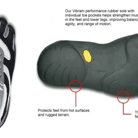 20568acb 60% Off Vibram Five Fingers Black & White Speed Shoes For Kids (Only $44  instead of $110)