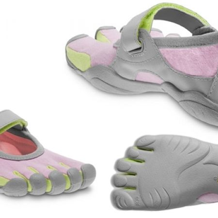 c7ff4186 56% Off Vibram Five Fingers Pink & Green Sprint Shoes For Kids (Only $44  instead of $100)