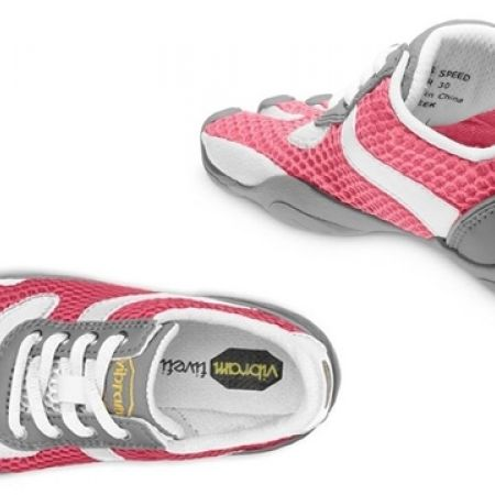 86b32731 60% Off Vibram Five Fingers Pink & White Speed Shoes For Kids (Only $44  instead of $110)