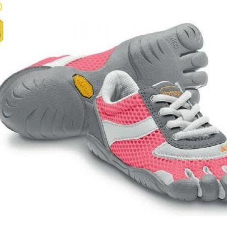 60% Off Vibram Five Fingers Pink & White Speed Shoes For Kids - Size: 30 (Only $44 instead of $110)