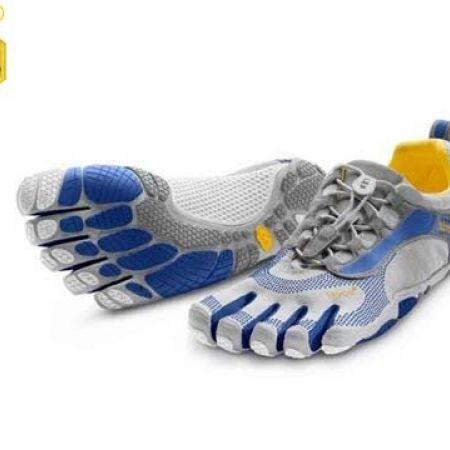 check out b5782 7ccf6 51% Off Vibram Five Fingers Blue   Grey Bikila LS Shoes For Men - Size