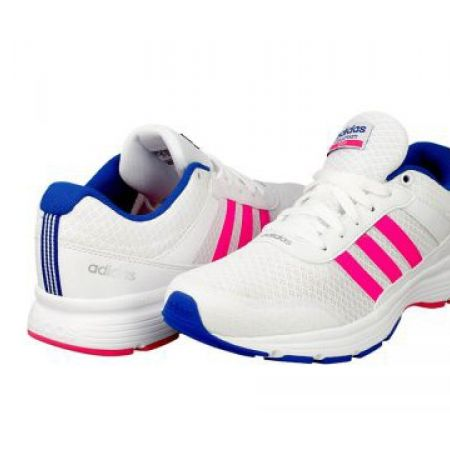 16% Off Adidas Running White & Pink Cloudfoam VS City W Sport Shoes For Women - Size: 38 (Only $67 instead of $80)