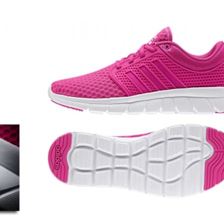 17% Off Adidas Running Fuschia Cloudfoam groove W Sport Shoes For Women - Size: 37 (Only $89 instead of $107)