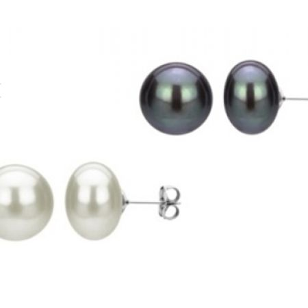40% Off R&C Gems Freshwater Pearl Earrings For Women - White (Only $45 instead of $75)