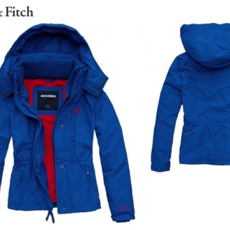 29% Off Abercrombie & Fitch All Season Weather Warrior Blue Jacket For Women - Medium (Only $150 instead of $210)