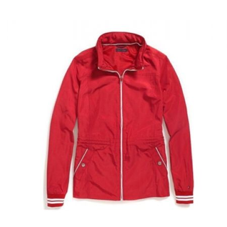 37% Off Tommy Hilfiger Red & White Yachting Jacket For Women - Small (Only $137 instead of $219)