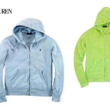 38% Off Ralph Lauren Heavy Full Zip Hoodie For Men - Medium - Blue (Only $80 instead of $130)