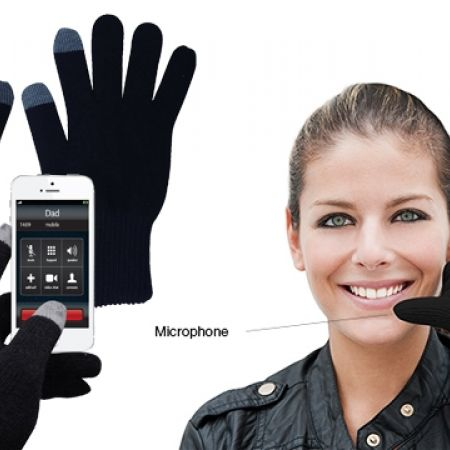 27% Off Black Bluetooth Touch Screen Gloves With Microphone Included For Women (Only $22 instead of $30)