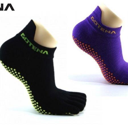 42% Off Gotena Thin Power Grip Purple & Orange Single Pair Toe Socks Unisex - Small (Only $7 instead of $12)