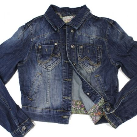 30% Off Blue White Jeans Jacket For Women - Size: Small (Only $30 instead of $43)