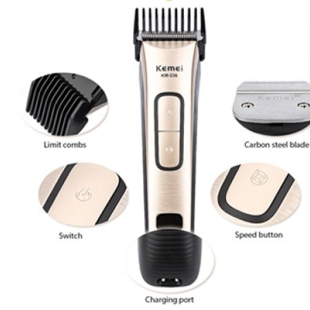 28 off kemei km 236 black gold digital led display rechargeable electric hair clipper. Black Bedroom Furniture Sets. Home Design Ideas