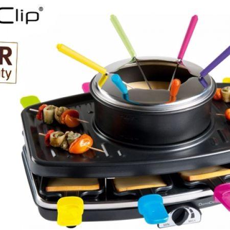 domoclip 3 in 1 raclette grill fondue set 1100 w makhsoom. Black Bedroom Furniture Sets. Home Design Ideas