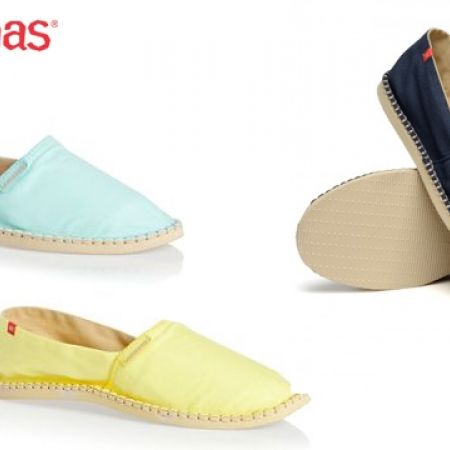 39% Off Havaianas Espadrilles Origine II For Women - Size: 35 - Navy Blue/Beige (Only $33 instead of $54)
