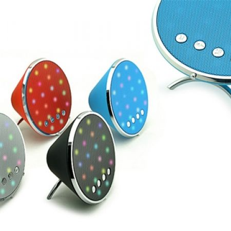 45% Off Wireless Colorful LED Light Shining Bluetooth Speaker - Silver (Only $16.5 instead of $30)