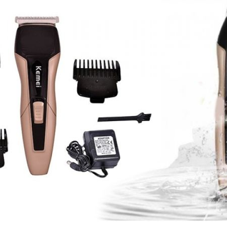 25% Off Kemei KM-5015 Gold & Black Professional Washable Rechargeable Electric Hair Clipper & Trimmer (Only $15 instead of $20)
