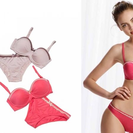 66% Off U.S. Polo Assn Set Of Supported Strapless Bra With Pantie For Women 2 Pcs - Size: 80B - Pink (Only $19 instead of $56)