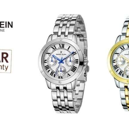 43% Off Daniel Klein DK11073-S Stainless Steel Classy Watch For Women - Silver (Only $39 instead of $69)