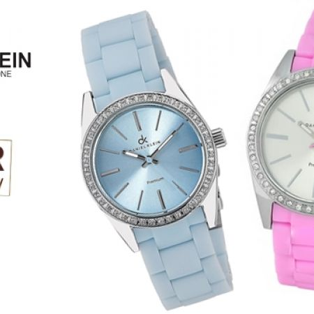43% Off Daniel Klein DK10566-P Premium Colorful Rubber Watch For Women - Pink (Only $39 instead of $69)