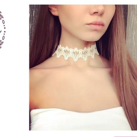 25% Off Lumalive White Trend Lace Tattoo Choker For Women (Only $7.50 instead of $10)