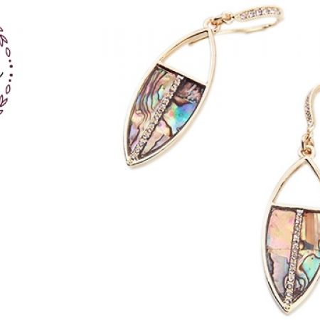 26% Off Lumalive Leaf-Out Fake Gold & Multicolor Earrings With Zircon For Women (Only $12.5 instead of $17)