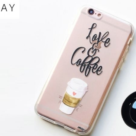 41% Off Milkyway Clear TPU Cell Phone Case Love & Coffee For iPhone 7 (Only $13 instead of $22)