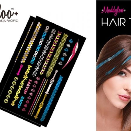 27% Maddyloo Metallic Hair & Body Honeya Tattoos (Only $8 instead of $11)