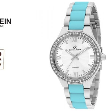 43% Off Daniel Klein DK010560B Premium Baby Blue Stainless Steel Fashionable Watch For Women (Only $39 instead of $69)