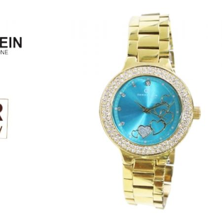 43% Off Daniel Klein DK00426B Premium Gold Stainless Steel Heart Watch For Women (Only $39 instead of $69)