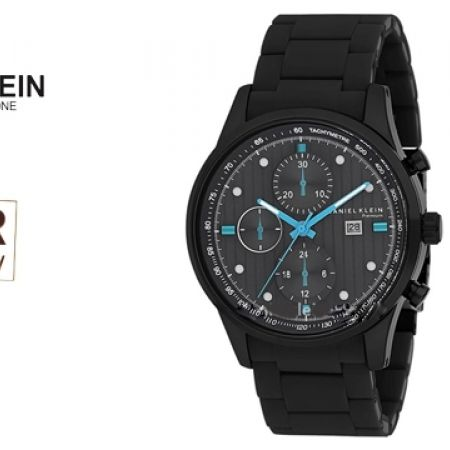 43% Off Daniel Klein DK010834D Premium Black Stainless Steel Watch For Men (Only $39 instead of $69)