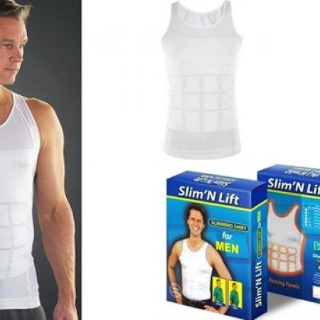31% Off Slim 'N Lift White Body Shaper For Men Large 40/82 cm (Only $9 instead of $13)