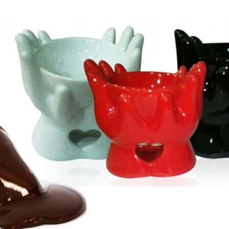50% Off Ceramic Chocolate Fondue Pot - Red (Only $2 instead of $4)