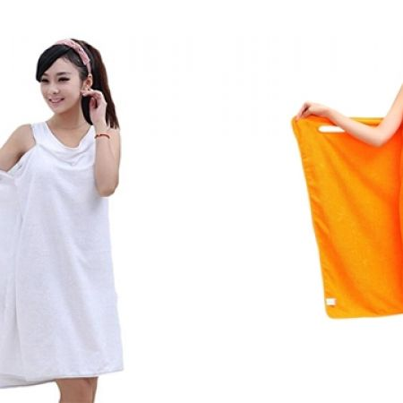 38% Off Bathrobe Magic Body Wrap For Women - Orange (Only $8 instead of $13)