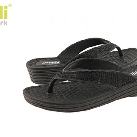 35% Off Capelli New York Mesh Faux Leather Thong Flip Flop For Women - Size: 37 - Black (Only $11 instead of $17)