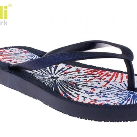 Fun Fireworks Print Flexy Fusion Body Ladies Flip Flops