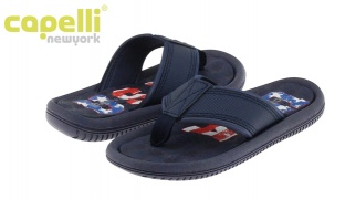 47% Off Capelli new York Textured Faux Leather Flip Flop For Boys - Size: 27-29 (Only $9 instead of $17)