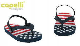 47% Off Capelli New York American Flag Print Flip Flop For Toddler Boys - Size: 20-22 (Only $9 instead of $17)