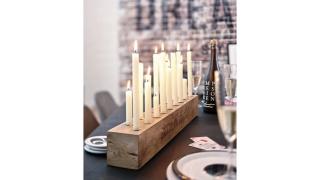 Handcraft Wooden Candleholder - Dark Wood