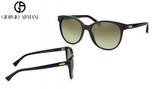 Emporio Armani Sunglasses EA 4016 5001/8E Matte Black Frame With Green Gradient Fade For Women