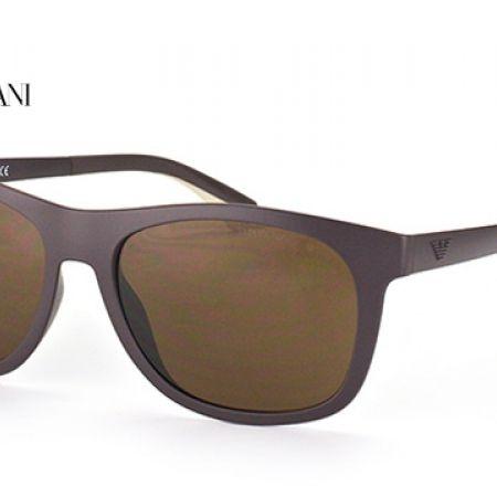 7364196d38a8 Emporio Armani Sunglasses EA 4034 5260/73 Matte Dark Brown Frame With Brown  Gradient Fade For Men
