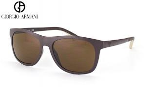 Emporio Armani Sunglasses EA 4034 5260/73 Matte Dark Brown Frame With Brown Gradient Fade For Men