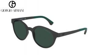 Emporio Armani Sunglasses EA 4045 5341/71 Matte Grey Green Frame With Green Gradient Fade For Men