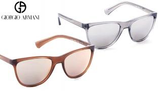 Emporio Armani Sunglasses EA 4053 5372/6G Transparent Grey Frame With Silver Mirror Fade For Women