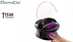 Domoclip Black & Purple Rechargeable Manicure & Pedicure Set