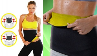 Thermo Sweat Neoprene Slimming Waist Shapers For Women - Large